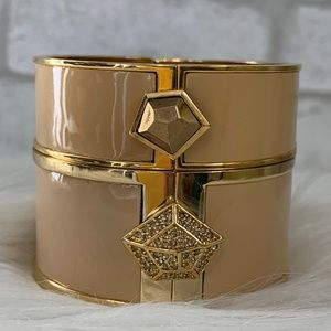 Two cream/gold Vince Camuto bangles